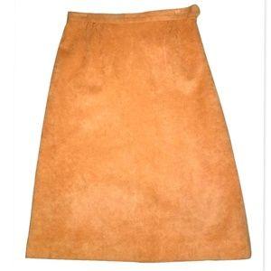 1970s Ultrasuede Vintage Skirt by Samuel Robert